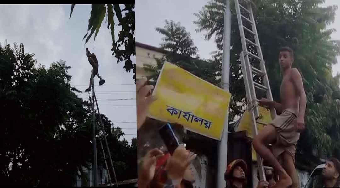 চট্টগ্রাম রেজিষ্ট্রেশন কমপ্লেক্সের সামনে এক পাগলের লঙ্কাকাণ্ড!